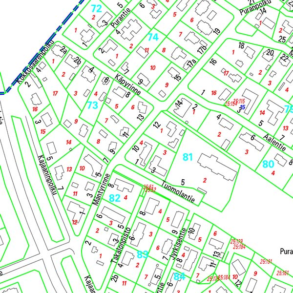 Osoitekartta - Kadut, kartat ja liikenne - Oulun kaupunki